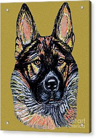 Acrylic Print featuring the painting Urlike Gsd by Ania M Milo