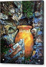 Urn Among The Rocks Acrylic Print