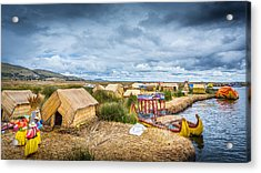 Acrylic Print featuring the photograph Uros Life by Gary Gillette