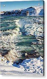 Urridafoss Waterfall Iceland Acrylic Print by Matthias Hauser