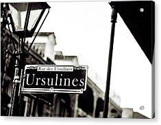 Ursulines In Monotone, New Orleans, Louisiana Acrylic Print