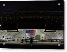 Us Air Force Eq 4 Global Hawk Assigned To The 380th Air Expeditionary Wing Await Routine Maintenance Acrylic Print