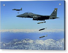 U.s. Air Force F-15e Strike Eagle Acrylic Print by Stocktrek Images