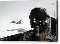 U.s. Air Force Pilot Takes Acrylic Print by Stocktrek Images