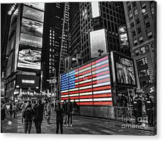 U.s. Armed Forces Times Square Recruiting Station Acrylic Print by Jeff Breiman
