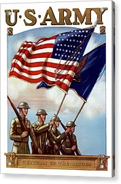 Us Army -- Guardian Of The Colors Acrylic Print by War Is Hell Store
