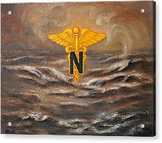 U.s. Army Nurse Corps Desert Storm Acrylic Print