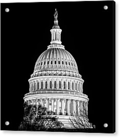 Us Capitol Dome In Black And White Acrylic Print