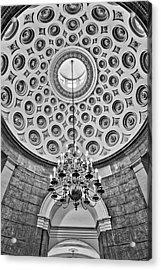 Acrylic Print featuring the photograph Us Capitol Rotunda Washington Dc Bw by Susan Candelario