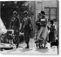 Us Civil Rights. Paratroopers Acrylic Print by Everett