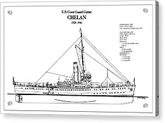 U.s. Coast Guard Cutter Chelan Acrylic Print by Jose Elias - Sofia Pereira