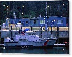 U.s. Coast Guard - Fort Bragg California Acrylic Print by Soli Deo Gloria Wilderness And Wildlife Photography