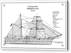 U.s. Coast Guard Revenue Cutter Harriet Lane Acrylic Print