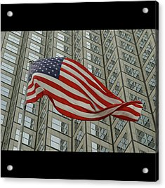 U.s. Fag Acrylic Print by Elido Turco Photographer