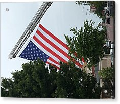 Acrylic Print featuring the photograph Us Flag by Andrea Love