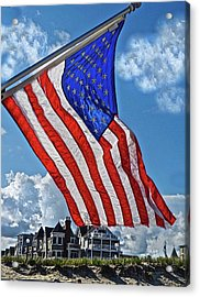 Us Flag,ocean Grove,nj Flag Acrylic Print by Joan Reese