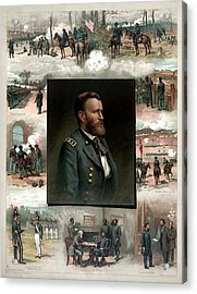 Us Grant's Career In Pictures Acrylic Print by War Is Hell Store