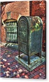 U.s. Mail - Beacon Hill - Boston Acrylic Print by Joann Vitali