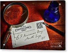 Us Mail The Postal Card Acrylic Print by Paul Ward