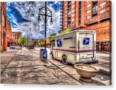 Us Mail Truck Acrylic Print by Spencer McDonald