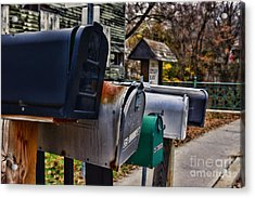Us Mailboxes Acrylic Print by Paul Ward