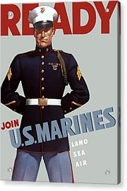 Us Marines - Ready Acrylic Print