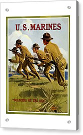 Us Marines - Soldiers Of The Sea Acrylic Print by War Is Hell Store