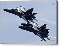 Us Navy Blue Angels In Formation Acrylic Print by Dustin K Ryan