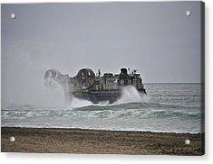 Us Navy Hovercraft Acrylic Print