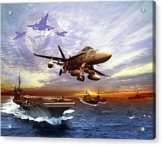 U.s. Navy Acrylic Print by Kurt Miller