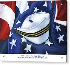 U.s. Navy Nurse Corps Acrylic Print by Marlyn Boyd