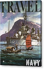 U.s. Navy Travel Poster Acrylic Print by Granger