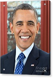 U.s. President Barack Obama  Acrylic Print