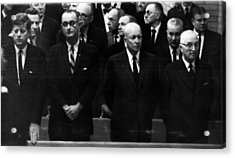 Us Presidents. From Left Us President Acrylic Print by Everett