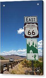 Us Route 66 Sign Arizona Acrylic Print