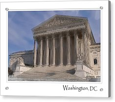 Us Supreme Court Building In Washington Dc Acrylic Print