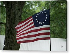 Usa Betsy Ross 13 Star Flag Acrylic Print by Thomas Woolworth