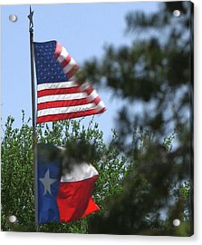 Usa Blesses Texas Acrylic Print