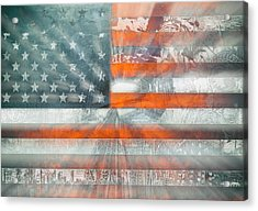 Usa Flag 10 Acrylic Print by Bekim Art