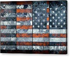 Usa Flag 12 Acrylic Print by Bekim Art