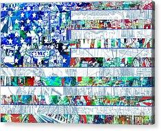 Usa Flag 14 Acrylic Print by Bekim Art