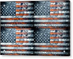 Usa Flag 9 Acrylic Print
