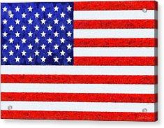 Usa Flag  - Camille Style -  - Pa Acrylic Print by Leonardo Digenio
