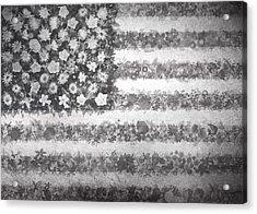 Usa Flag Floral 2 Acrylic Print