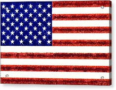 Usa Flag  - Free Style -  - Pa Acrylic Print