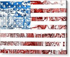 Usa Flag Acrylic Print by Bekim Art