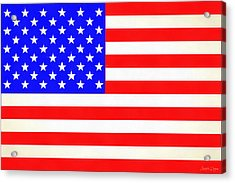 Usa Flag  - Vivid Free Style -  - Da Acrylic Print by Leonardo Digenio