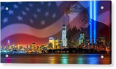 Usa Land Of The Free Acrylic Print by Susan Candelario