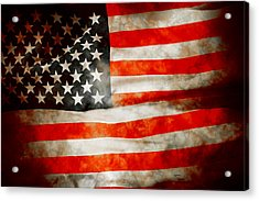 Usa Old Glory Patriot Flag Acrylic Print by Phill Petrovic