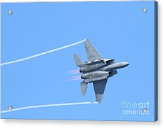 Usaf F-15 Strike Eagle . 7d7864 Acrylic Print by Wingsdomain Art and Photography